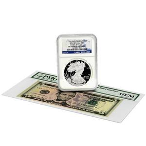 2012 S SAE PF69 UC ER Blue Label NGC and 2009 Series $5 Note San Francisco GEM PMG Coin and Currency Set