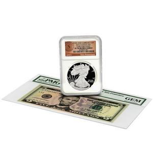 2012 S SAE PF70 UC ER San Francisco Label NGC and 2009 Series $5 Note San Francisco GEM PMG Coin and Currency Set