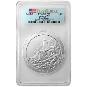 2012 P America The Beautiful Silver 5oz Acadia SP69 FS PCGS