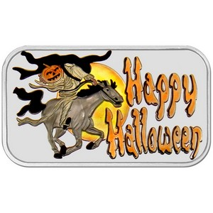 Happy Halloween 1oz .999 Silver Bar Enameled