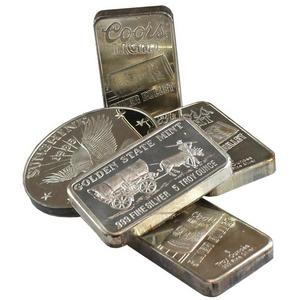 Single 5oz .999 Silver Bar Our Choice Brand