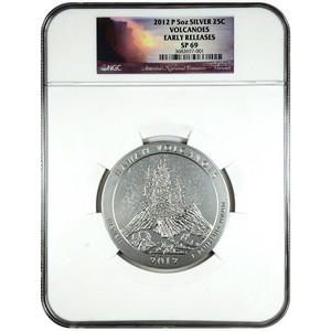2012 P America The Beautiful Silver 5oz Hawaii Volcanoes SP69 ER NGC