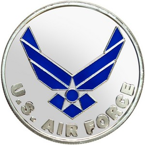 US Air Force 1oz .999 Silver Medallion Enameled