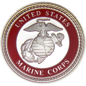 US Marines 1oz .999 Silver Medallion Enameled
