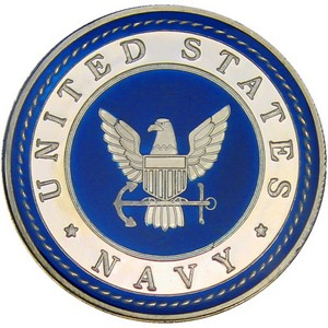 US Navy 1oz .999 Silver Medallion Enameled