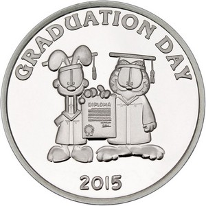 Garfield Graduation Day 2015 1oz .999 Silver Medallion
