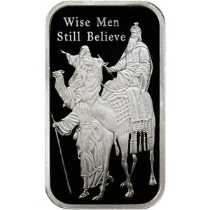 2014 Wise Men Still Believe 1oz .999 Silver Bar Enameled