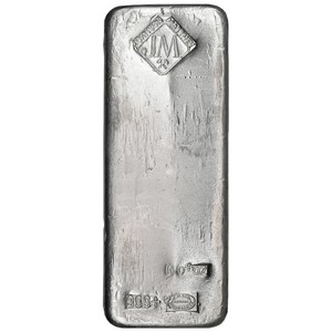 Johnson Matthey 100oz .999 Silver Bar