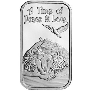 Lion and The Lamb 1oz .999 Silver Bar