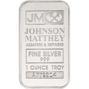 Johnson Matthey 1oz .999 Silver Bar