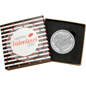 Be My Valentine 1oz .999 Silver Medallion Dated 2015