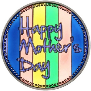 Happy Mother's Day 1oz .999 Silver Medallion Enameled