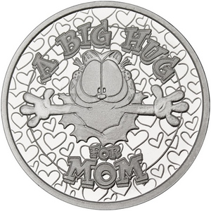 Garfield A Big Hug for Mom 1oz .999 Silver Medallion