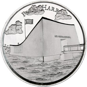 American Landmarks Series: Pearl Harbor Silver 2oz Ultra High Relief Round