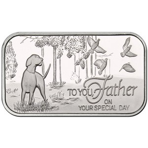 Father's Day 1oz .999 Silver Bar Dated 2016