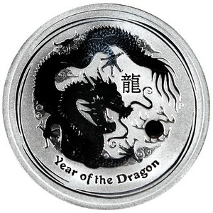 2012 P Australia Silver Year of the Dragon Half Ounce BU