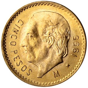 Mexico Gold 5 Peso Date Our Choice