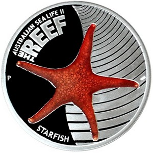 2011 P Australia Silver The Reef Starfish Half Ounce Color PF