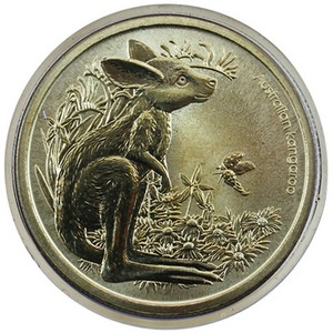 2011 P Australia Bush Babies Kangaroo Stamp and Aluminum Bronze Coin