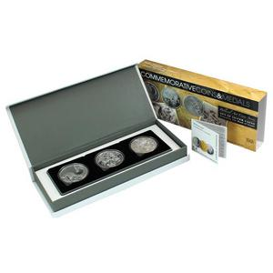 Israel Sterling Silver Biblical Art 3 Coin Set Jonah Elijah Sampson