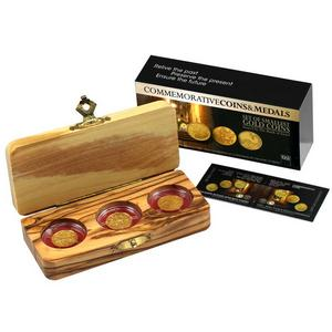 Israel Gold Biblical Art 3 Coin Set- Jonah Elijah Sampson