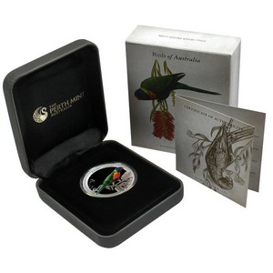 2013 P Australia Silver Birds of Australia Rainbow Lorikeet Half Ounce Proof Coin