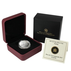 2013 Canada Silver Fishing Quarter Ounce Coin