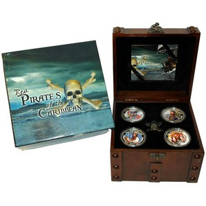 2011 New Zealand Silver Real Pirates of the Carribean 1oz 4pc Set