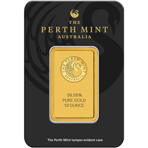 Australian Perth Mint 10oz .9999 Gold Bar