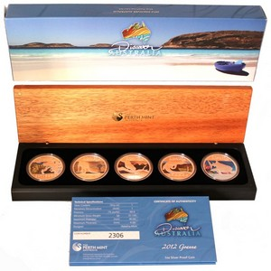 2012 P Australia Silver Discover Australia 5pc Proof Set