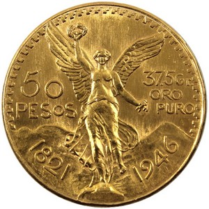 Mexico Gold 50 Pesos Dates Our Choice UNC