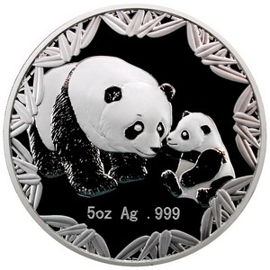 2012 Philadelphia World's Fair of Money ANA Silver Panda Medal 5oz PF in OGP