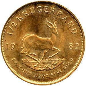 South Africa Krugerrand Gold Half Ounce