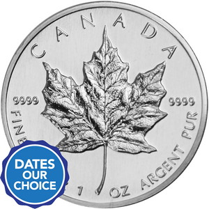 Canada Silver Maple 1oz BU Our Choice Year