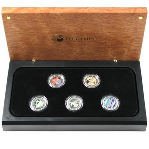 2012 P Australia Discover Australia Platinum Tenth Ounce 5pc Set PF