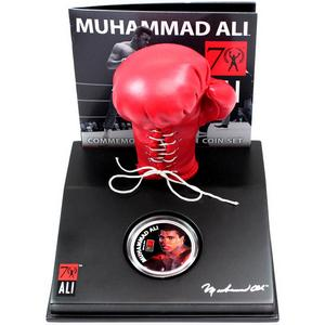 2012 New Zealand Silver Muhammad Ali Commemorative Coin Set Proof