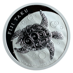 2013 New Zealand Silver Taku Turtle 1oz BU
