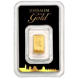 Israel Gold Dove of Peace 1 Gram Bar