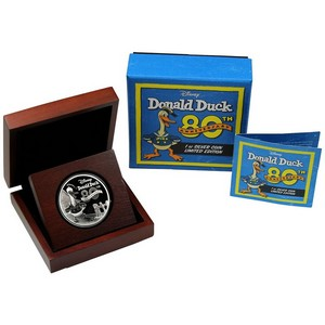 2014 Niue Silver Donald Duck 80th Anniversary Limited Edition 1oz Proof in OGP