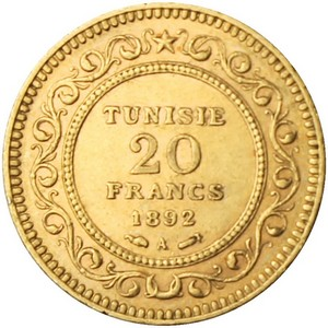 Tunisa Gold 20 Franc Date Our Choice