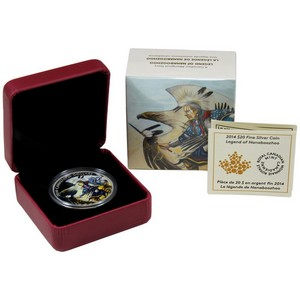 2014 Canada Silver Legend of Nanaboozhoo 1oz Colorized Proof in OGP