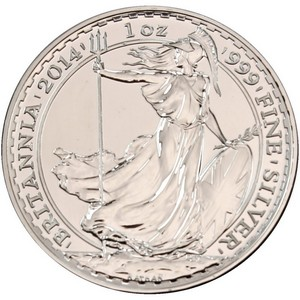 2014 Great Britain Silver Britannia 1oz BU