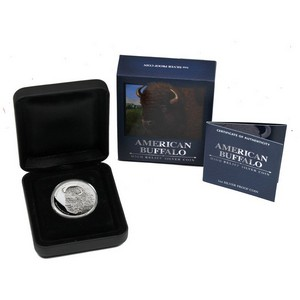 2014 P Tuvalu Silver American Buffalo 1oz High Relief Proof in OGP