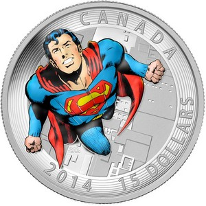 2014 Canada Silver $15 Iconic Superman Comic Book Covers: Action Comics #419 PF in OGP