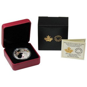 2014 Canada Silver Baby Animals The Atlantic Puffin 1oz PF in OGP