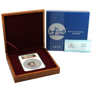 2014 China Silver Panda 5oz Smithsonian Institution Official Mint Medal PF69 UC NGC