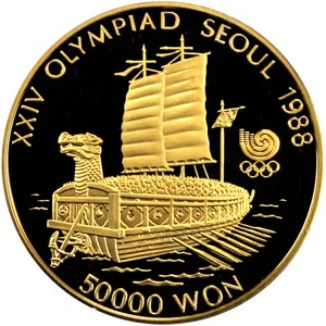 South Korea Gold 50000 Won 1oz Date Our Choice