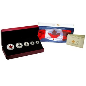 2015 Canada Silver Fractional Maple Leaf Set in OGP