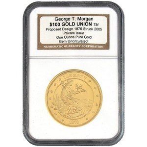 2005 Smithsonian Institute $100 Gold Union George T. Morgan 1oz Gem Unc NGC