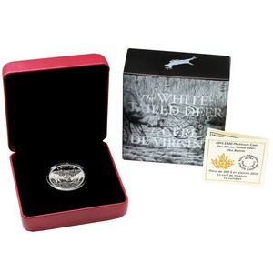 2014 Canada Platinum White-Tailed Deer The Battle 1oz Proof in OGP